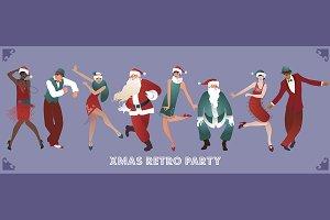Retro Christmas party I