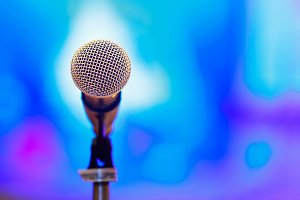Microphone with blur background
