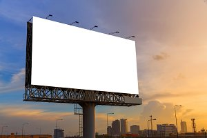Blank billboard ready to use