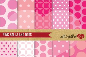 Patterns Pink White Digital Papers