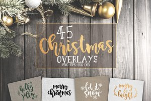 45 Christmas SVG overlays