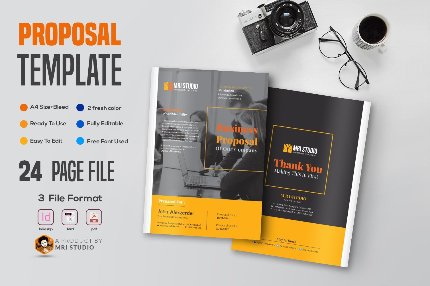 Creative Proposal Template Brochure Templates Creative Market