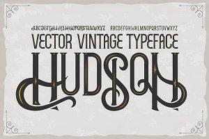 """Vintage font """"Hudson"""""""
