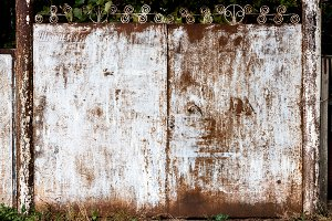 Old dirty rusty gate