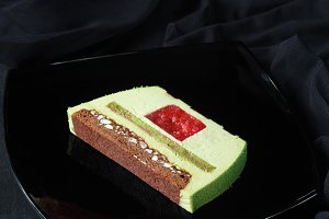 Contemporary Green Tea Mousse Cake