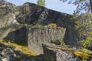 Old abandoned quarry