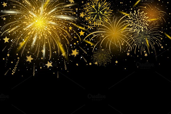 gold fireworks background illustrations creative market