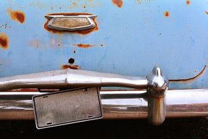 Rusty abandoned old car