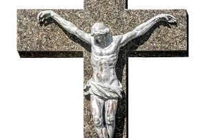 Isolated Jesuschrist on a Cross Photo