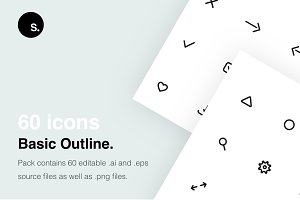60 Basic outline icons