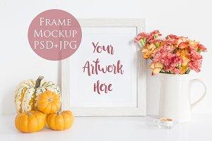 Frame Mockup - Portrait - pumpkin