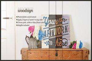 Pallet woodsign mockup - clean scene