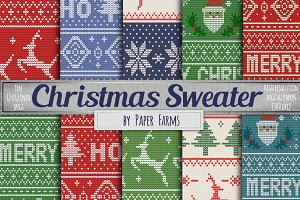 Ugly sweater digital paper
