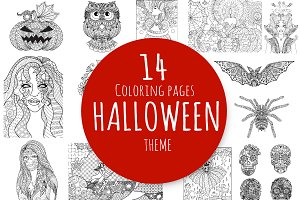 14 Halloween coloring pages