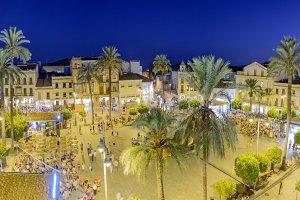 Plaza de España en Merida Noche