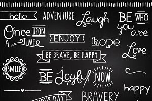 Chalkboard Quotes Clipart & Vectors