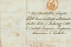 1805 Austerlitz Script, PRO, OTF.