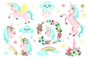 Unicorn Rainbow Clip Art
