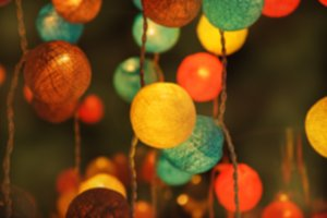 Colorful light cotton balls