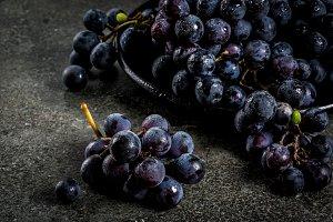 Raw black grape