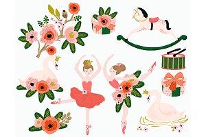Prima Ballerina Ballet Swan Clip Art