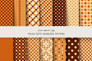 Seamless patterns polka dots