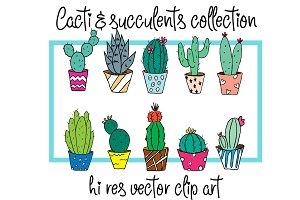 Cacti - Hi Res Vector Clip art
