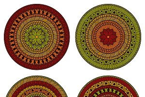 Vector Circle  Ethnic  Patterns