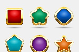 Golden game buttons
