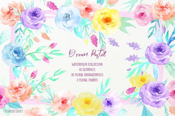 Watercolor Clipart Dream Pastel