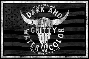 AL's Dark & Gritty Watercolor Action
