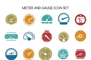 Speed gauge icons
