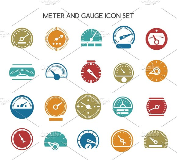 Speed gauge icons