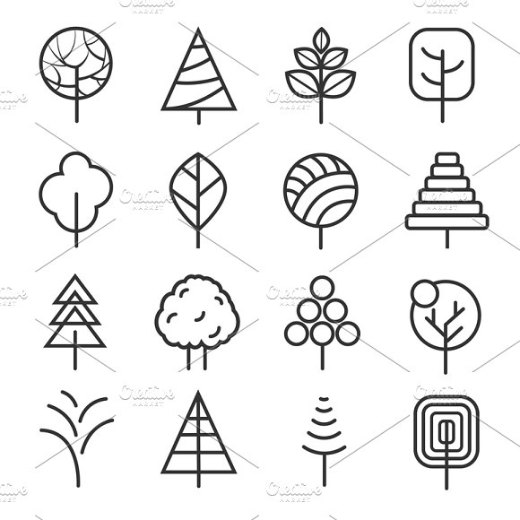 Simple contour lines trees in Graphics