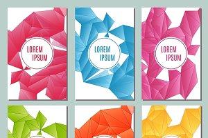 Modern brochure cards