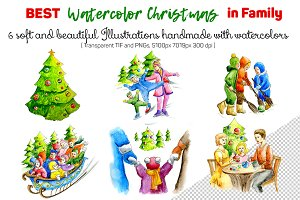 Christmas Clipart Watercolor