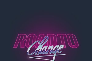 Road to Change Graphic vector