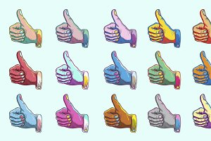 Agreement Thumbs up Symbol vector