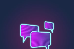 Speech Bubble Chatting vector
