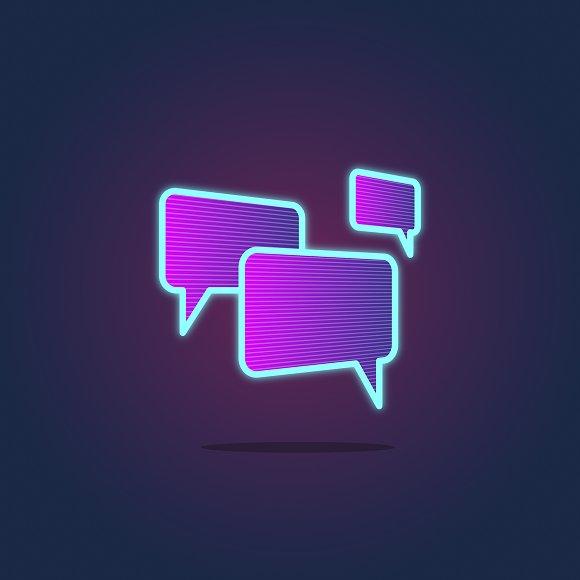 Speech Bubble Chatting vector