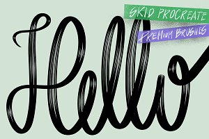 """Skid"" Procreate lettering brushes"