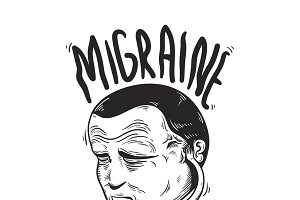 Migraine Illness vector