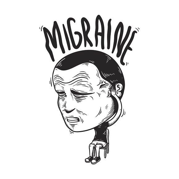 Migraine Illness vector