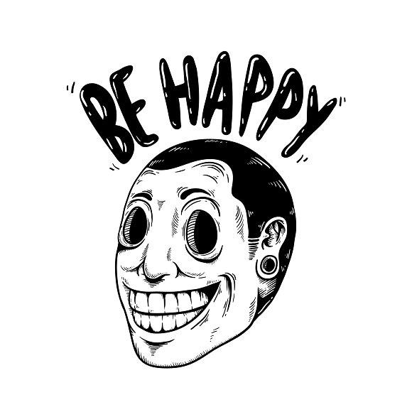 Be Happy Smile Cartoon vector