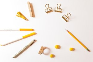 Yellow Theme Flat Lay 3