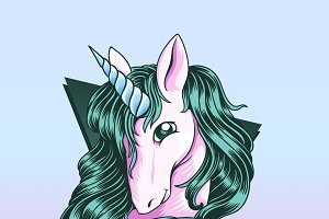 Vector of a Unicorn vector