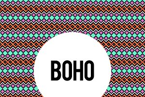 Boho seamless pattern vector