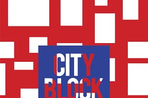 City block pattern vector