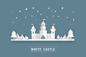 White paper castle Vector