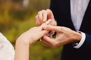 Marry me. wedding rings